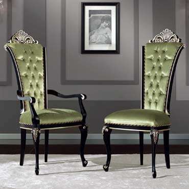 sedie in stile imbottite